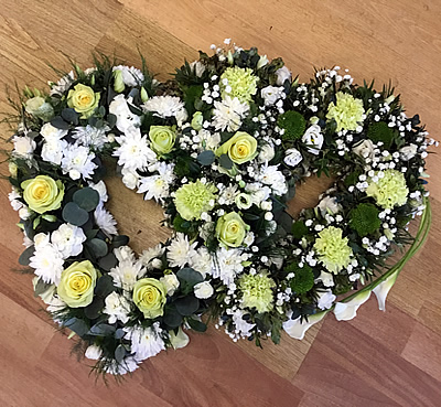 Funeral flowers - floral hearts