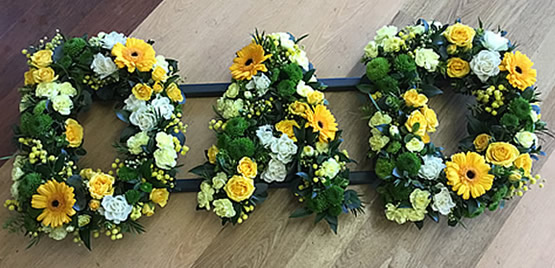 Funeral floral letters
